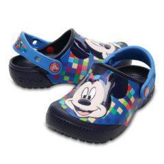 Papuci Crocs Mickey copii – culoarea albastru