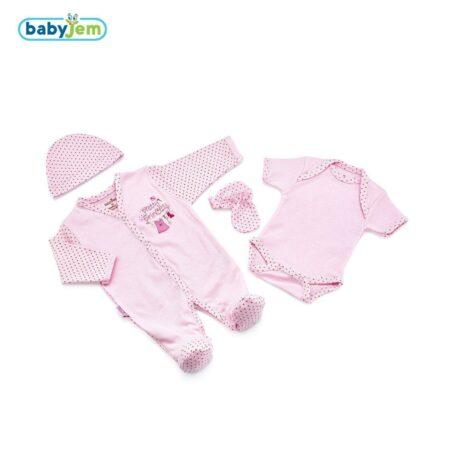 Set 4 piese nou nascut prematur – culoarea roz