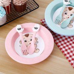 Set servirea mesei Baby – culoarea roz