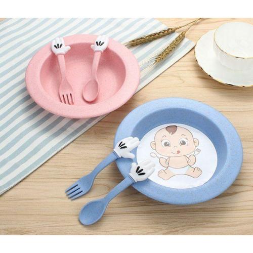Set servirea mesei Baby – culoarea roz1