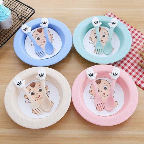 Set servirea mesei Baby – culoarea roz4