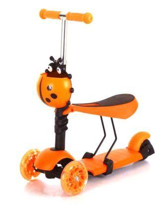 Trotineta 5 in 1 ride and skate – culoarea portocaliu