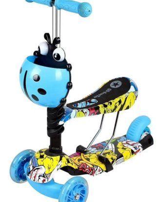 Trotineta 5 in 1 ride and skate print – culoarea albastru