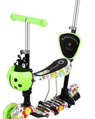 Trotineta 5 in 1 ride and skate print – culoarea verde