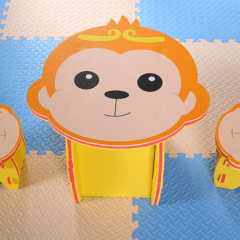 Set masuta + 2 scaune M-Jungle – maimuta