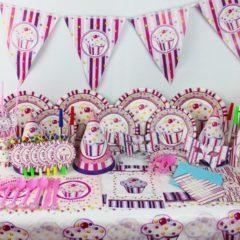 Set petrecere brioche 8 piese – culoarea roz