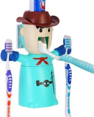 Dispenser-suport pentru periute si pasta de dinti ECOCO – culoarea turcoaz