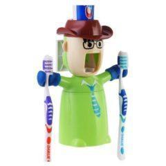 Dispenser-suport pentru periute si pasta de dinti ECOCO – culoarea verde