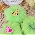 Burete pentru baita cu figurine - culoarea verde