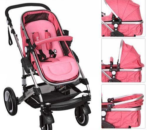 Carucior bebe 2 in 1 Belecoo | roz 4