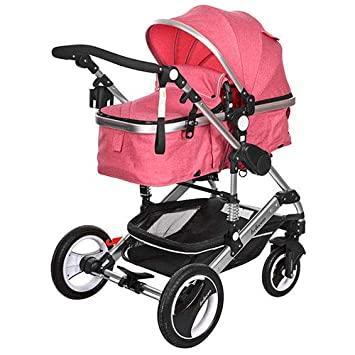 Carucior bebe 3 in 1 Belecoo | roz 4