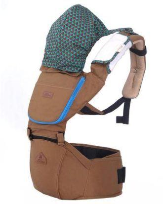 Marsupiu ergonomic Aiebao Hipseat- culoarea maro