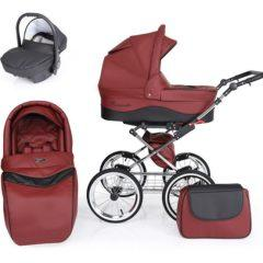 Carucior 3 in 1 Romantic Exclusive – culoarea bordo