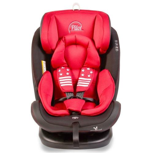 Scaun auto rotativ cu Isofix 0- 36 kg Pilot – culoarea rosu