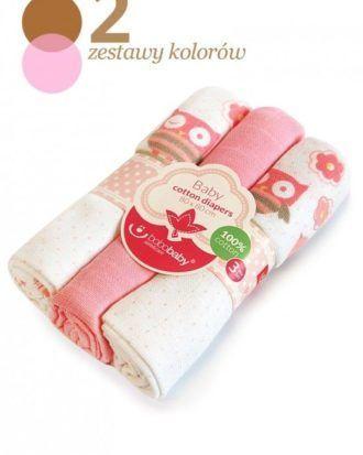 BoboBaby set 3 scutece textile 80×80 cm – bufnite roz