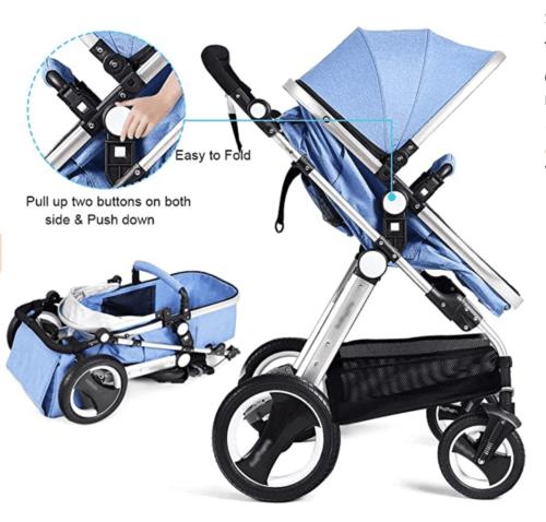 Carucior bebe 2 in 1 Belecoo | albastru 3