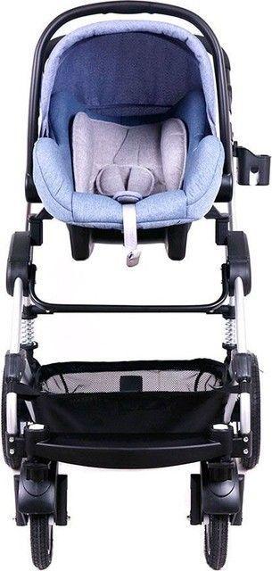 Carucior bebe 3 in 1 Belecoo | albastru denim 2