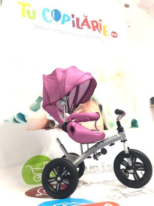 Tricicleta textil multifunctionala LIAN JOY culoarea roz resigilat 3