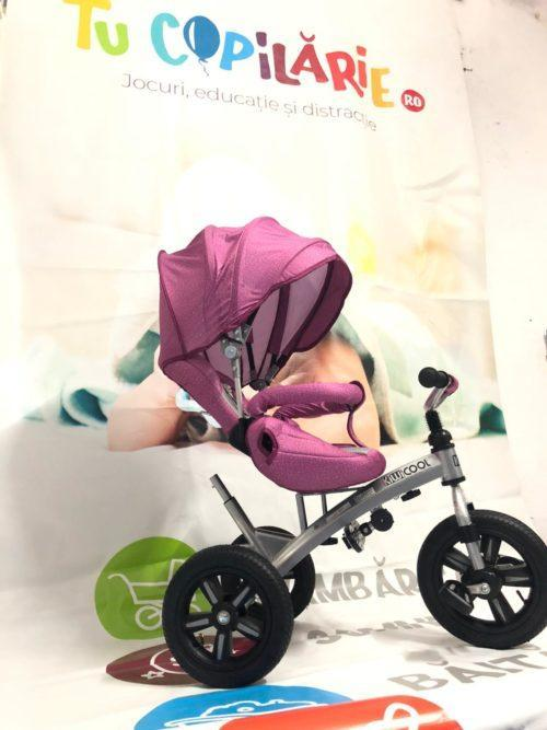 Tricicleta textil multifunctionala LIAN JOY culoarea roz resigilat 6
