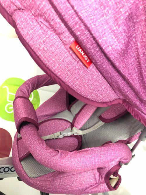 Tricicleta textil multifunctionala LIAN JOY culoarea roz resigilat 10