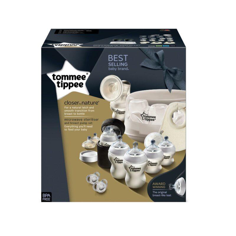 Set sterilizator pentru microunde si pompa de san manuala, Tommee Tippee 1