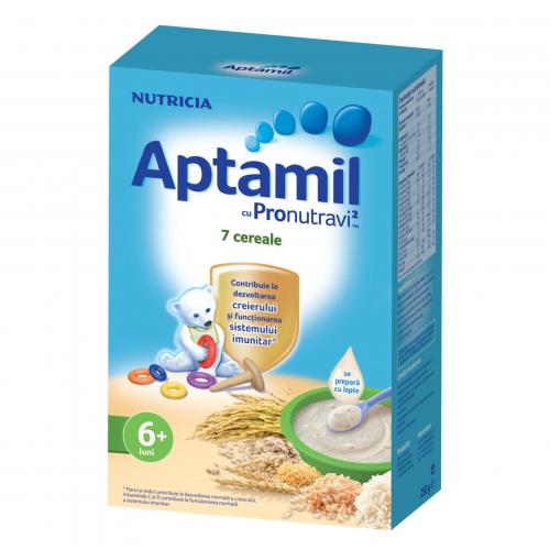 Cereale fara lapte Nutricia, Aptamil 7 Cereale, 250g, 6luni+ 2