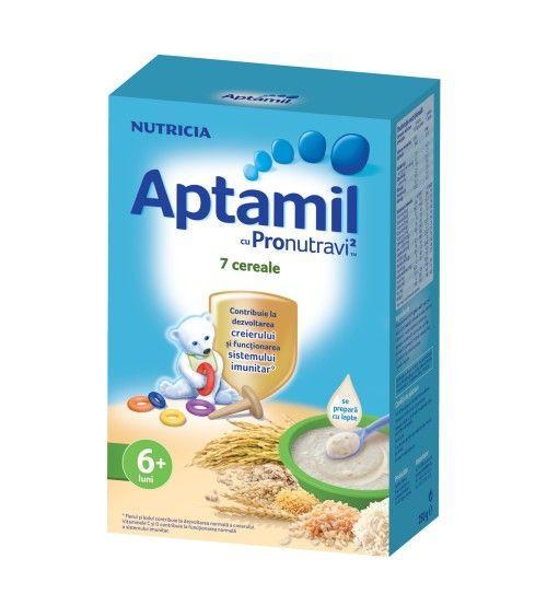 Cereale fara lapte Nutricia, Aptamil 7 Cereale, 250g, 6luni+ 1