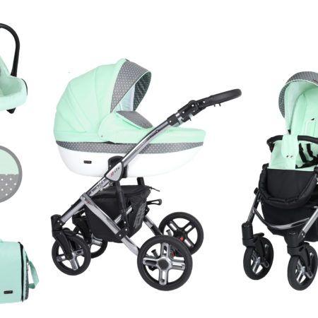 Mila Premium Class este un carucior exclusiv si modern, conceput pentru copii cu varsta intre 0 si 36 de luni. Designul inovator, imbogatit cu un cadru cromat si elemente realizate din piele ecologica, confera un sentiment de unicitate.