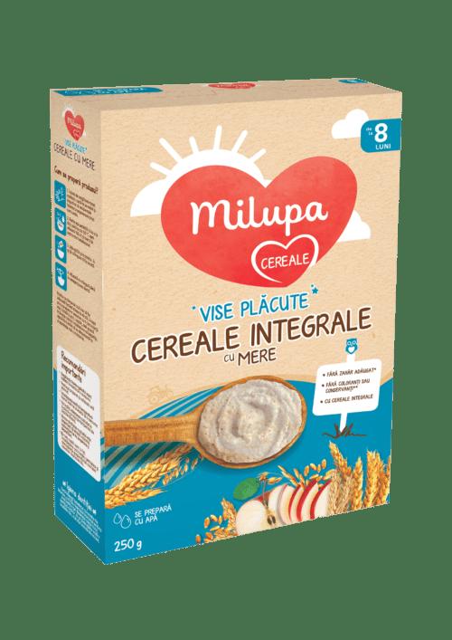 Cereale cu lapte Milupa, Vise Placute 7 Cereale cu lapte si mere, 250g, 8luni+ 1