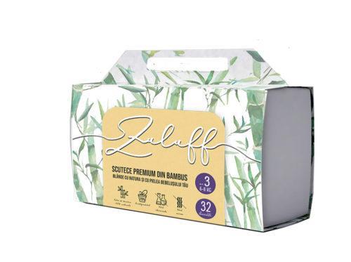 Pachet 6 x Scutece premium din bambus Zuluff marimea 3   192 buc 1