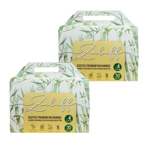 Pachet 2 x Scutece premium din bambus Zuluff marimea 4 | 60 buc 1