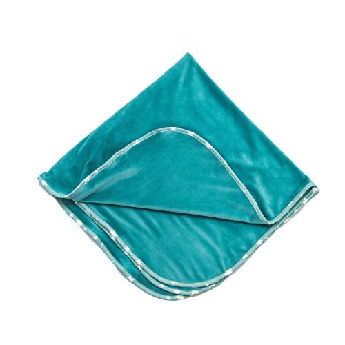 Păturică dublă bebeluși   Catifea Turquoise 1